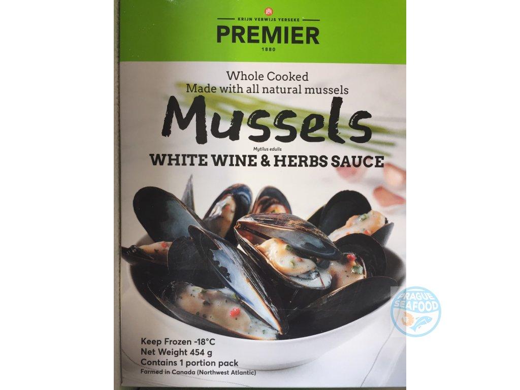 mussles v vině