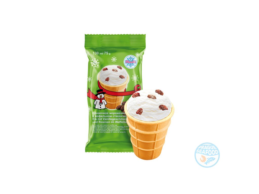 zmrzlina s rozinkami